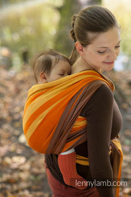 Baby Sling, Broken Twill Weave, 100% cotton, Autumn Fantasy - size S (grade B)