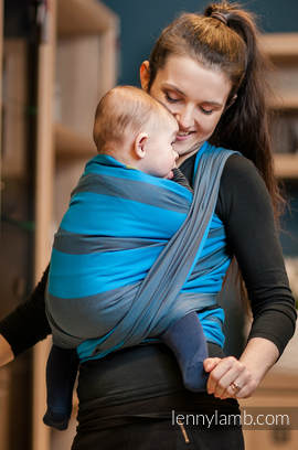 Baby Sling, Broken Twill Weave, 100% cotton,  Ocean Depth - size S (grade B)
