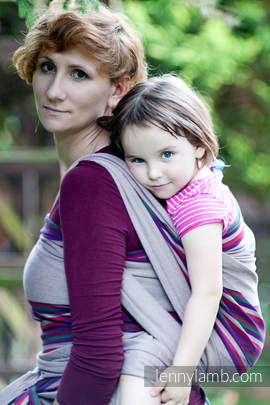 Baby Sling, Broken Twill Weave - Heather Nights - size S (grade B)