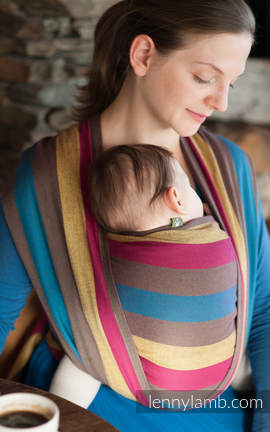 Baby Sling, Broken Twill Weave, 100% cotton,  Forest Meadow - size S (grade B)