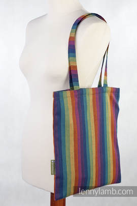 Shopping bag made of wrap fabric (60% cotton, 40% bamboo) - PARADISO