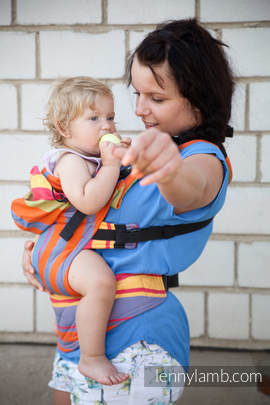 Ergonomic Carrier, Baby Size, broken-twill weave 100% cotton - wrap conversion from ZUMBA ORANGE - Second Generation.