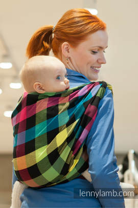 Baby Sling, Diamond Weave, 100% cotton - DIAMOND PLAID - size XS (grade B)