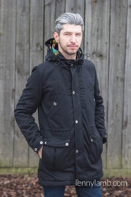 Parka Coat - size XS - Black & Customized Finishing