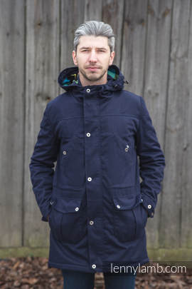 Parka Coat - size XXL - Navy Blue & Customized Finishing