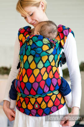 Ergonomic Carrier, Toddler Size, jacquard weave 100% cotton - wrap conversion from JOYFUL TIME, Second Generation