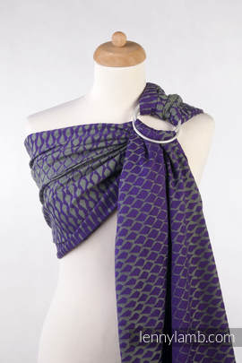 Ringsling, Jacquard Weave (100% cotton) - ICICLES PURPLE & BLACK (grade B)