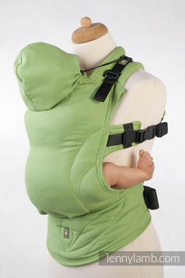 Ergonomic Carrier, Baby Size, diamond weave 100% cotton - wrap conversion from GREEN DIAMOND - Second Generation