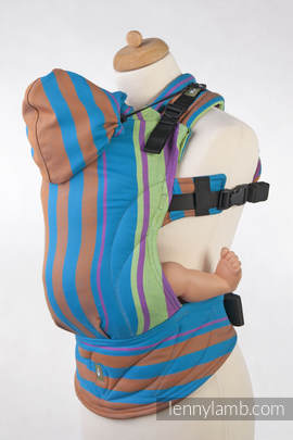 Ergonomic Carrier, Baby Size, broken-twill weave 100% cotton - wrap conversion from ZUMBA BLUE - Second Generation