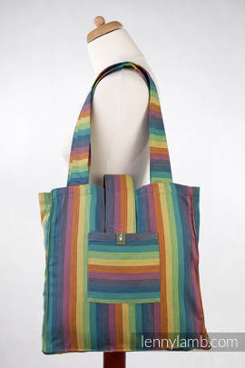 Shoulder bag made of wrap fabric (100% cotton) - GAIA - standard size 37cmx37cm