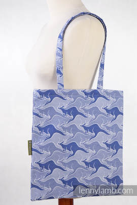 Shopping bag made of wrap fabric (100% cotton) - BLUE TWOROOS (grade B)