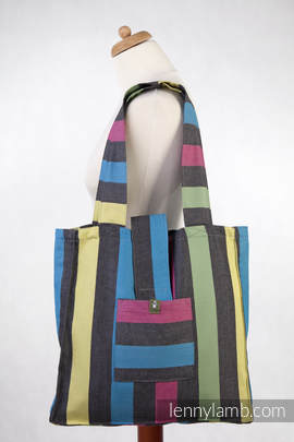 Shoulder bag made of wrap fabric (60% cotton, 40% bamboo) - TWILIGHT - standard size 37cmx37cm