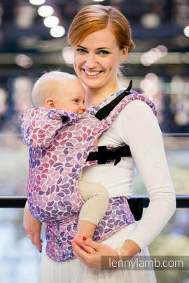Ergonomic Carrier, Baby Size, jacquard weave 100% cotton - COLORS OF FANTASY - Second Generation