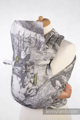 Mei Tai carrier Toddler with hood/ jacquard twill / 100% cotton / POSEIDON (with Poseidon on the panel)