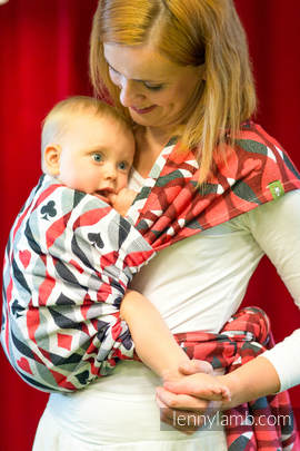 Baby Wrap, Jacquard Weave (100% cotton) - QUEEN OF HEARTS - size XL