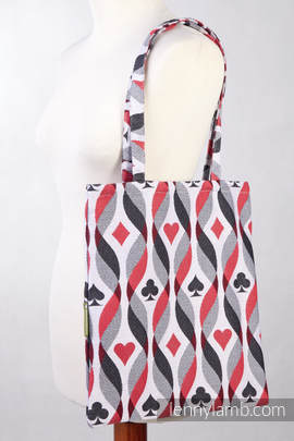 Shopping bag made of wrap fabric (100% cotton) - QUEEN OF HEARTS (grade B)