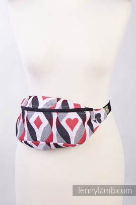 Waist Bag made of woven fabric, (100% cotton) - QUEEN OF HEARTS