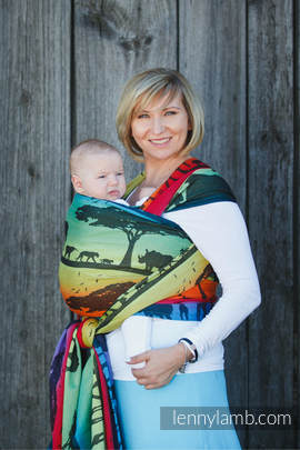 Baby Wrap, Jacquard Weave (100% cotton) - RAINBOW SAFARI 2.0 - size XL