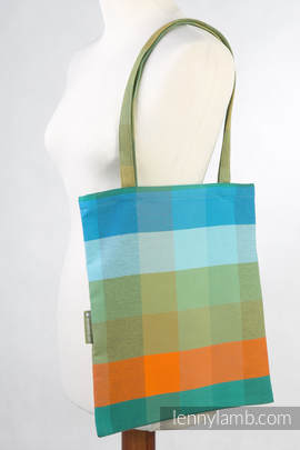 Shopping bag made of wrap fabric (100% cotton) - ORANGE TREE