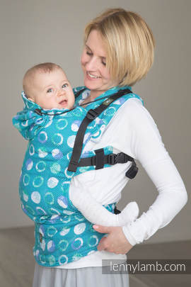 Ergonomic Carrier, Baby Size, jacquard weave 100% cotton - MOTHER EARTH - Second Generation