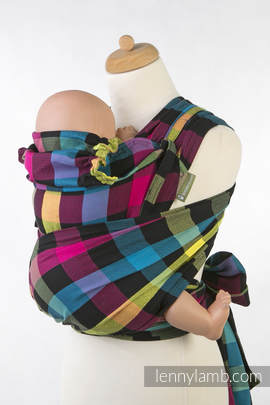 WRAP-TAI carrier Toddler, diamond weave - 100% cotton - with hood, DIAMOND PLAID