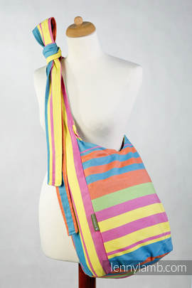 Hobo Bag made of woven fabric, 60% cotton 40% bamboo - PINACOLADA