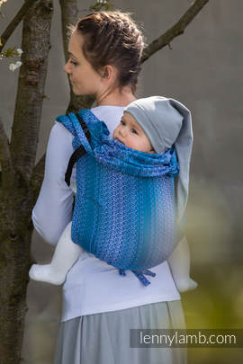 Lenny Buckle Onbuhimo, standard size, jacquard weave (100% cotton) - Wrap conversion from LITTLE LOVE OCEAN (grade B)
