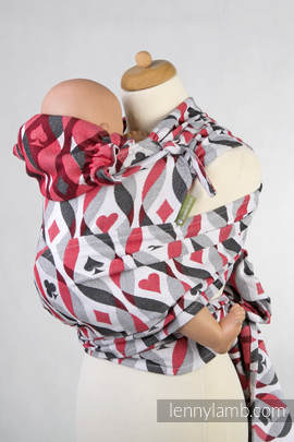 WRAP-TAI carrier Toddler with hood/ jacquard twill / 100% cotton / QUEEN OF HEARTS