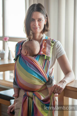 Baby Sling, Broken Twill Weave (100% cotton) - CORAL REEF - size XS (grade B)