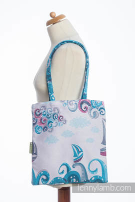 Shopping bag made of wrap fabric (100% cotton) - HIGH TIDE