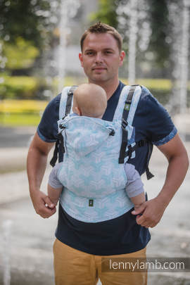 Ergonomic Carrier, Baby Size, jacquard weave 100% cotton - wrap conversion from TRINITY - Second Generation