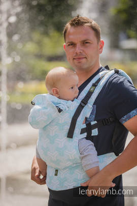 Ergonomic Carrier, Toddler Size, jacquard weave 100% cotton - wrap conversion from TRINITY - Second Generation
