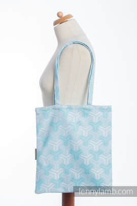 Shopping bag made of wrap fabric (100% cotton) - TRINITY - standard size 33cmx39cm