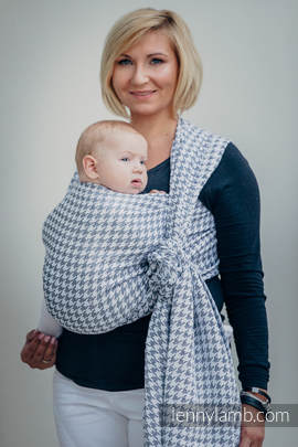 Baby Wrap, Jacquard Weave (60% cotton, 40% linen) - LITTLE PEPITKA - size XL