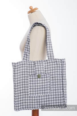 Shoulder bag made of wrap fabric (60% cotton, 40% linen) - LITTLE PEPITKA- standard size 37cmx37cm