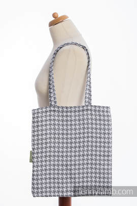 Shopping bag made of wrap fabric (60% cotton, 40% linen) - LITTLE PEPITKA