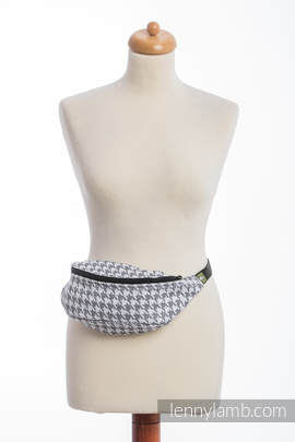 Waist Bag made of woven fabric, (60% cotton, 40% linen) - LITTLE PEPITKA
