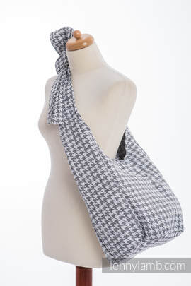 Hobo Bag made of woven fabric, 60% cotton, 40% linen- LITTLE PEPITKA