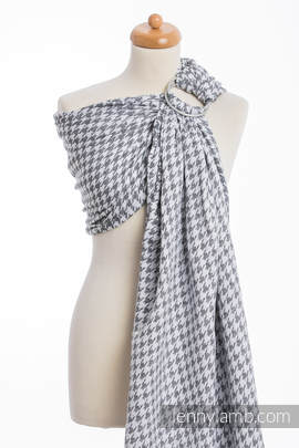 Ringsling, Jacquard Weave (60% cotton, 40% linen) - LITTLE PEPITKA