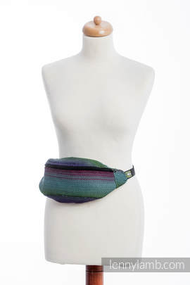 Waist Bag made of woven fabric, (100% cotton) - LITTLE HERRINGBONE IMPRESSION DARK