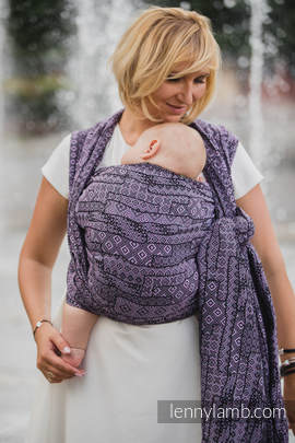 Baby Wrap, Jacquard Weave (100% cotton) - ENIGMA PURPLE - size XL
