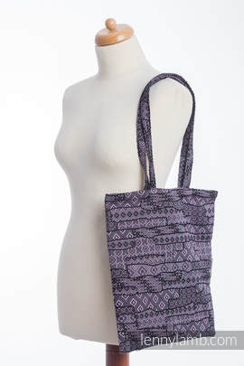 Shopping bag made of wrap fabric (100% cotton) - ENIGMA PURPLE