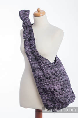 Hobo Bag made of woven fabric - ENIGMA PURPLE (grade B)