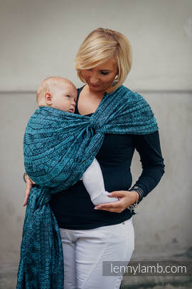 Baby Wrap, Jacquard Weave (100% cotton) - ENIGMA BLUE - size XL