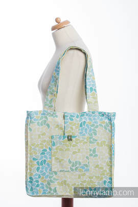 Shoulder bag made of wrap fabric (100% cotton) - LEMONADE  - standard size 37cmx37cm