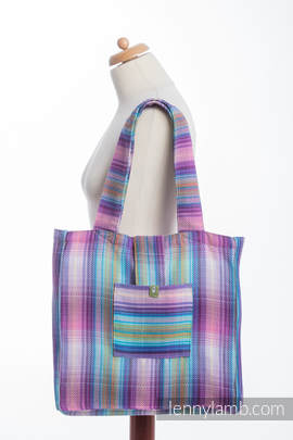 Shoulder bag made of wrap fabric (100% cotton) - LITTLE HERRINGBONE TAMONEA - standard size 37cmx37cm