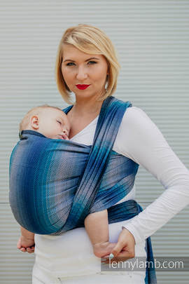 Baby Wrap, Herringbone Weave (100% cotton) - LITTLE HERRINGBONE ILLUSION - size L (grade B)