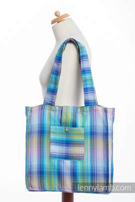 Shoulder bag made of wrap fabric (100% cotton) - LITTLE HERRINGBONE PETREA - standard size 37cmx37cm