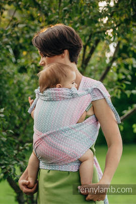 WRAP-TAI carrier Mini with hood/ jacquard twill / 60% cotton, 28% merino wool, 8% silk, 4% cashmere / LITTLE LOVE - ROSE GARDEN