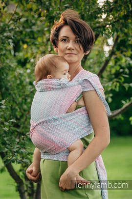 WRAP-TAI carrier Mini with hood/ jacquard twill / 60% cotton, 28% merino wool, 8% silk, 4% cashmere / LITTLE LOVE - ROSE GARDEN (grade B)
